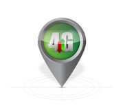 4g pointer locator illustration design. Over a white background Royalty Free Stock Photos