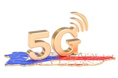 5G in Puerto Rico concept, 3D rendering. Isolated on white background Stock Photo