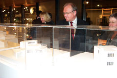 G�ran Persson,. Jan/13/2003-Humlebaek-Denmark,Nordic countries social democrates hold meeting to highlight Nordic culture exchange,Danish Social democratic Stock Image