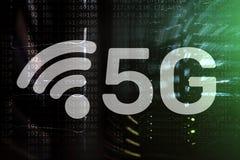 5G rede, conceito da conex?o a Internet 5G no fundo digital Conceito esperto da rede de comunica??o ilustração stock