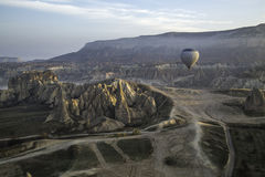 Göreme landscape from a balloon Royalty Free Stock Images
