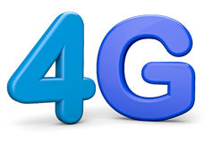 4G. Render wireless technology concept Royalty Free Stock Images