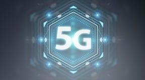 5G rendu de l'interface réseau 3D Photo stock