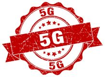 5g seal. stamp. 5g round seal isolated on white background. 5g stock illustration
