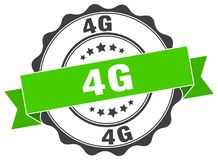 4g seal. stamp. 4g round seal isolated on white background. 4g vector illustration
