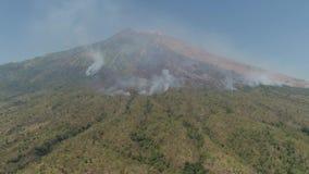 G?ry Agung krajobrazowy wulkan, Bali, Indonezja zdjęcie wideo