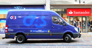 G4S φορτηγό ασφάλειας στοκ φωτογραφία με δικαίωμα ελεύθερης χρήσης