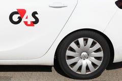 G4S embleem op een auto Royalty-vrije Stock Afbeelding