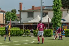 g S Santa Maria di Oleno против Murazzi Dalmine 06-05-2018 Стоковое фото RF