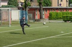 G S Santa Maria di Oleno vs Murazzi Dalmine 06-05-2018 Arkivbild