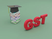 G S T concept with Books Royalty Free Stock Images