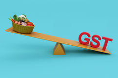 G S T Concept with Vegetables Stock Photography