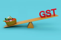 G S T Concept with Vegetables Royalty Free Stock Photography