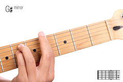 G sharp minor guitar chord tutorial Stock Image