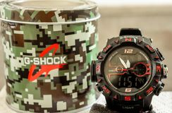 G_shock wrist watch royalty free stock images