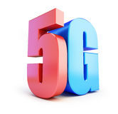 5G sign, 5G cellular high speed data wireless connection. 3d Illustrations. On white background Stock Photography