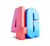 4G sign, 4G cellular high speed data wireless connection. 3d Illustrations on white background Royalty Free Stock Photos