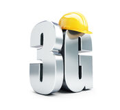 3G sign, 3G construction helmet Royalty Free Stock Image