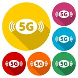 5G sign, 5g mode technology icon. Vector icon vector illustration