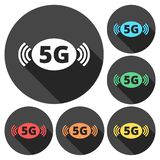 5G sign, 5g mode technology icon. Vector icon stock illustration
