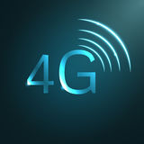 4G sign icon. Vector. Royalty Free Stock Image