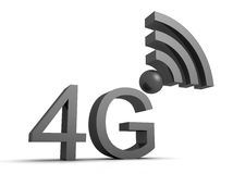 4g sign. Illustration of a mobile 4g isolated on a white background Royalty Free Stock Images