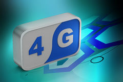 4g sign in the square Royalty Free Stock Photos