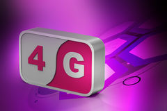 4g sign in the square Stock Images