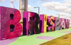 G20 Signage, Brisbane, Australien Stockfotos