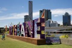 G20 Signage, Brisbane, Queensland, Australia Royalty Free Stock Photo