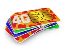 4g sim cards Stock Image