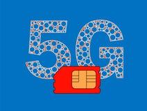 5G SIM-kaart Stock Afbeeldingen
