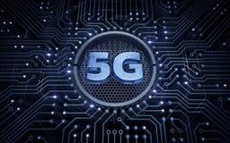 5G - sistemi senza fili della quinta generazione Fotografia Stock Libera da Diritti