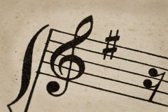 G-sleutel - muziekconcept Stock Fotografie