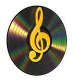 G-sleutel over het Vinyl vector illustratie