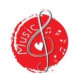G-sleutelmuziek De illustratie van de handtekening Royalty-vrije Illustratie