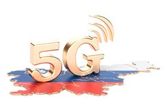 5G in Slovenia concept, 3D rendering. Isolated on white background Royalty Free Stock Images