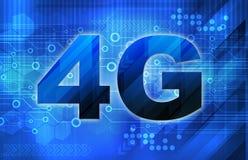 4G Smart phone display Royalty Free Stock Photo