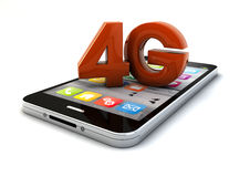 4g smartphone. Render of a 4g smartphone Stock Image