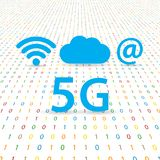 5G speed wireless internet network . Vector illustration Stock Image