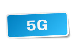 5g square sticker Royalty Free Stock Images