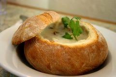 gęsta zupa rybna owoce morza zdjęcia stock