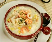 gęsta zupa rybna owoce morza Obrazy Stock