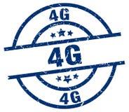 4g stamp. 4g grunge vintage stamp isolated on white background. 4g. sign stock illustration