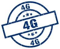 4g stamp. 4g grunge vintage stamp isolated on white background. 4g. sign royalty free illustration