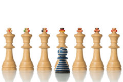 The G7 States and Greece symbolically as pawns Stock Photography