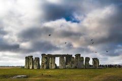 Gęste chmury nad Stonehenge Zdjęcie Royalty Free
