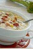 gęstej zupy rybnej warzywo Zdjęcie Royalty Free