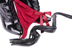 G-string and high heels Royalty Free Stock Photo