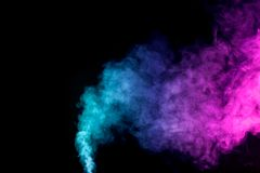 Gęsty kolorowy dym Zdjęcia Royalty Free